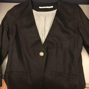Gibson black linen blazer